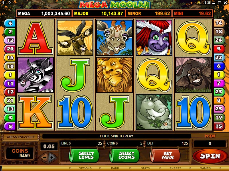 Mega Moolah Slot Screenshot