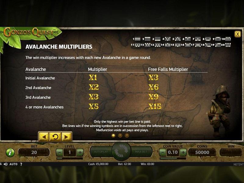 Gonzos Quest slot Bonus