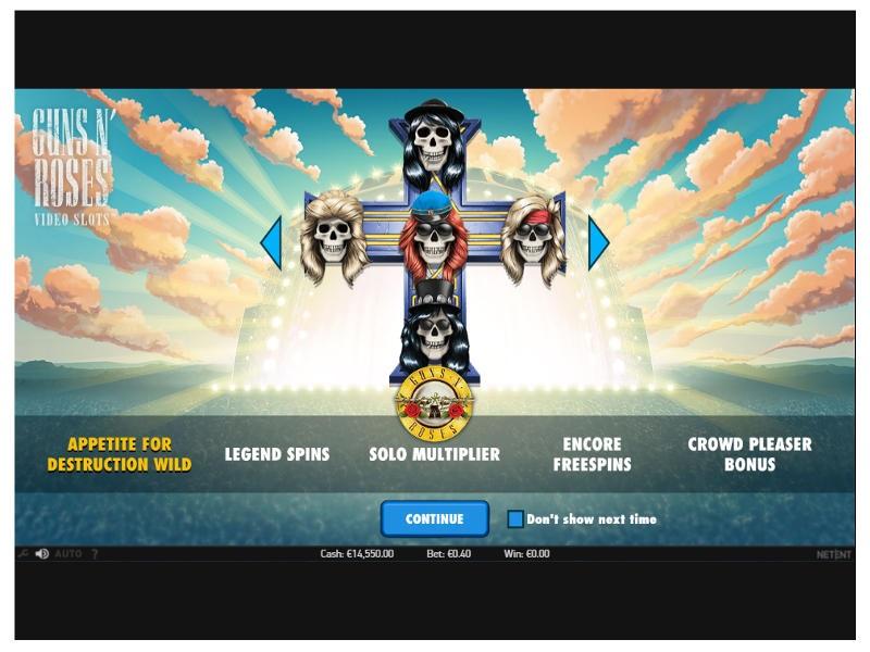 Guns N Roses Slot Features
