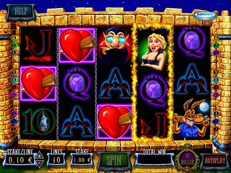 Ooh Aah Dracula Slot Reels