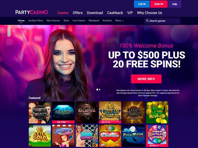 Party Casino Websitee