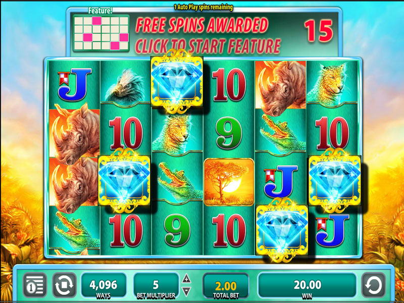 Raging Rhino Slot Screenshot