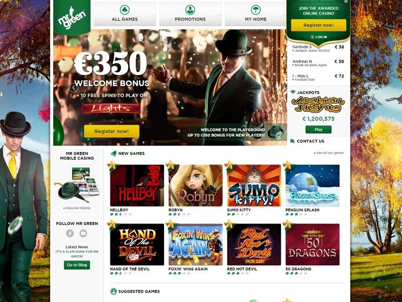 Mr Green Casino design