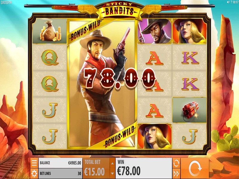 play Sticky Bandits slot
